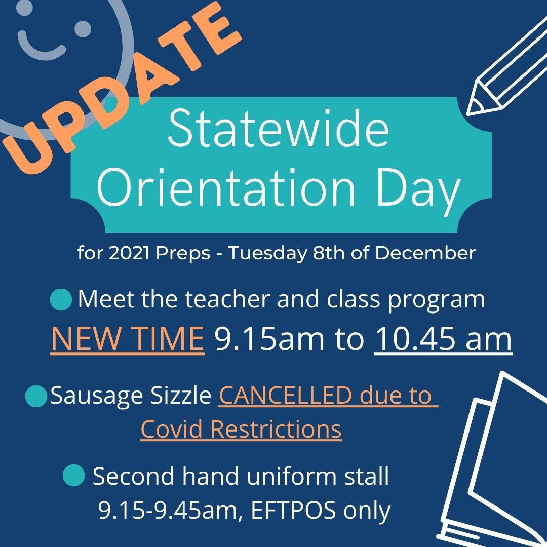 2021 Prep Orientation Day Strathaird Primary School